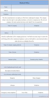 7 medical form templates memo formats