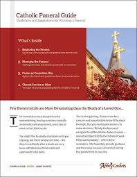 funeral planning guide free catholic funeral planning guide caskets