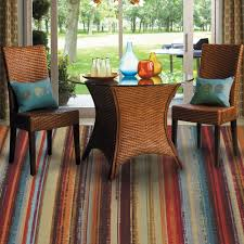 mohawk home avenue stripe indoor outdoor nylon rug multi colored