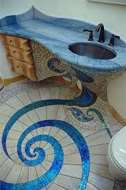 Bathroom Floor Mosaic Tile - the spiral floor design mosaics tile 2 home design garden