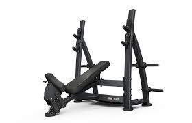 olympic incline bench press with racks 687 00 fitness u0026 gym