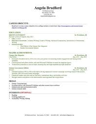example of college resume template resume builder