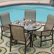 Sling Patio Dining Set - 2 person glass dining table gallery dining