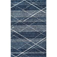 snowpeak kz07 hand tufted diamond trellis shag rug blue by