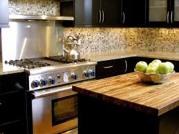 Dark Kitchen Cabinets With Backsplash Diy Kitchen Countertops Pictures Options Tips U0026 Ideas Hgtv