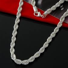 chain rope necklace images 2018 women 39 s 6mm thick twisted rope chain necklace 18 inches in jpg