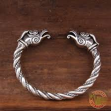 bangle bracelet with ring images 925 sterling silver dragon viking bangle bracelet arm ring jpg