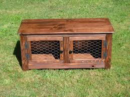 Rustic Bench Coffee Table Rustic Bench Coffee Table With Chicken Wire Doors Wood