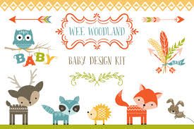 woodland creatures baby shower woodland baby shower clipart clipartxtras