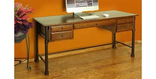 Writing Desks For Home Office Rustic Home Office Desk Writing With Metal Base Onsingularity