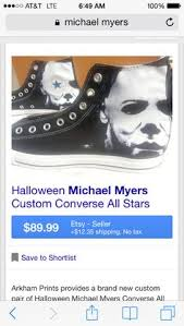 michael myers serial killer on your feet meh why not shoes