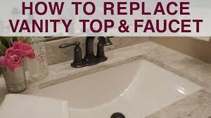 Diy Vanity Top Replace Vanity Top And Faucet Diy