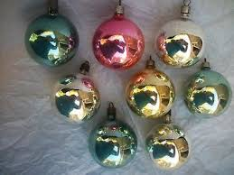 lot 3 vintage premier glass ornaments indent teardrop pink