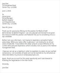 salary proposal letter job offer counter proposal template sample