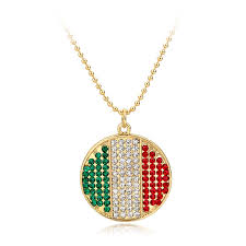 charm necklace wholesale images Wholesale flag charm necklace online buy best flag charm jpg