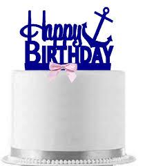 happy birthday cake topper pink blue happy birthday cake topper