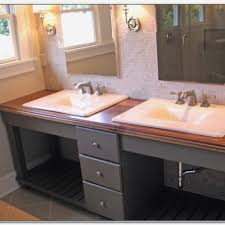 bathroom countertops with sink built in awesome blue pearl granite