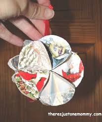 recycled card ornament there s just one