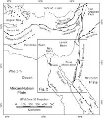 Gulf Of Aqaba Map Seismic Hazards Implications Of Uplifted Pleistocene Coral