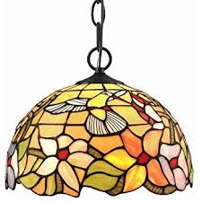 Stained Glass Pendant Light Amora Lighting Am1034hl14 Style Stained Glass Hanging L