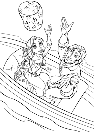 free printable disney princess tangled rapunzel colouring pages