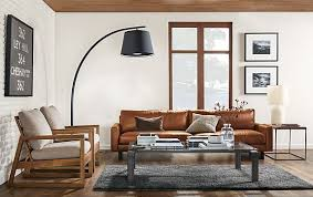 Hess Leather Sofa With Streeter L Modern Living Room Furniture