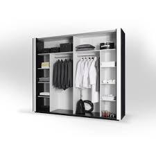 armoire chambre blanche armoire lina noir et blanche laquée tout équipée meuble design pour