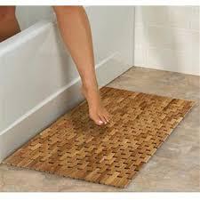 Teak Bath Mat Conair Home Pollenex Solid Teak Roll Up Folding Shower Spa Mat