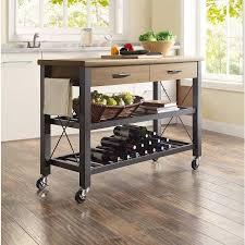Kitchen Metal Shelves by Whalen Santa Fe Rolling Kitchen Cart With Metal Shelves Rustic