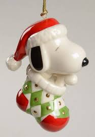 lenox snoopy ornament decore