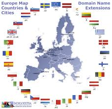 Map Of Eu International Domain Extensions Map Of Europe Visual Ly