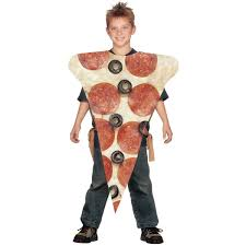 amazon kids halloween costumes amazon com pizza slice kids costume one size fits most up to