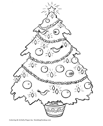 christmas tree coloring pages potted tree coloring sheet
