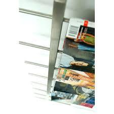 Office Wall Organizer Ideas Furniture Brushed Nickel Magazine Rack For Bathroom Hanger