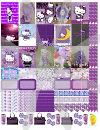 home planners freebie hello kitty purple day planner stickers planner