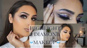 diamond highlight halloween makeup non scary youtube