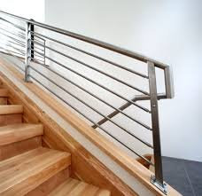 Metal Landing Banister And Railing Olympus Horizontal Bar An Industry First Free Estimate