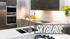 slim under cabinet led lighting jcc skyblade unique edge lit led undershelf lighting youtube