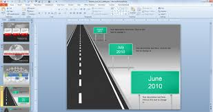 powerpoint roadmap timeline template roadmap with milestones for
