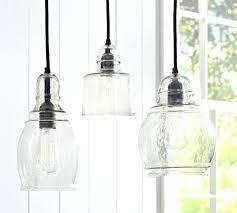Hanging Kitchen Light Fixtures Blown Glass Pendant Lights Clear Hanging Kitchen Light Fixtures