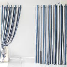striped bedroom curtains wonderful striped blue poly living room or bedroom curtains buy