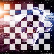 space walk full color vinyl chess board
