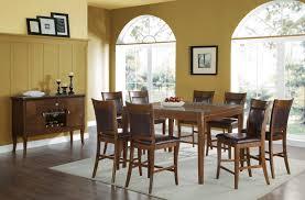 acme belinda counter height dining set walnut finish