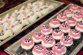pink zebra theme baby shower party ideas photo 18 of 35 catch