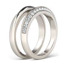 wedding band set wedding band sets womens and mens wedding band sets jeulia jewelry