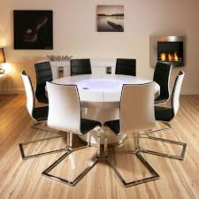 Homedesigning by Elegant Oak Round Dining Table For 8 66 With Additional Home