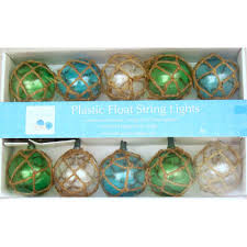 Novelty String Lights by Vintage Glass Style Buoy Float Electrig String Lights Beach