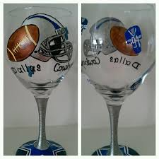 dallas cowboys wine glass 15 hand painted wine glass artsy