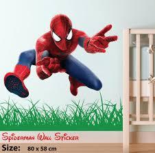 spiderman superhero kids bedroom wall stickers art decal