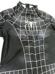 lycra halloween mask aliexpress com buy black spider man costume spandex 3d